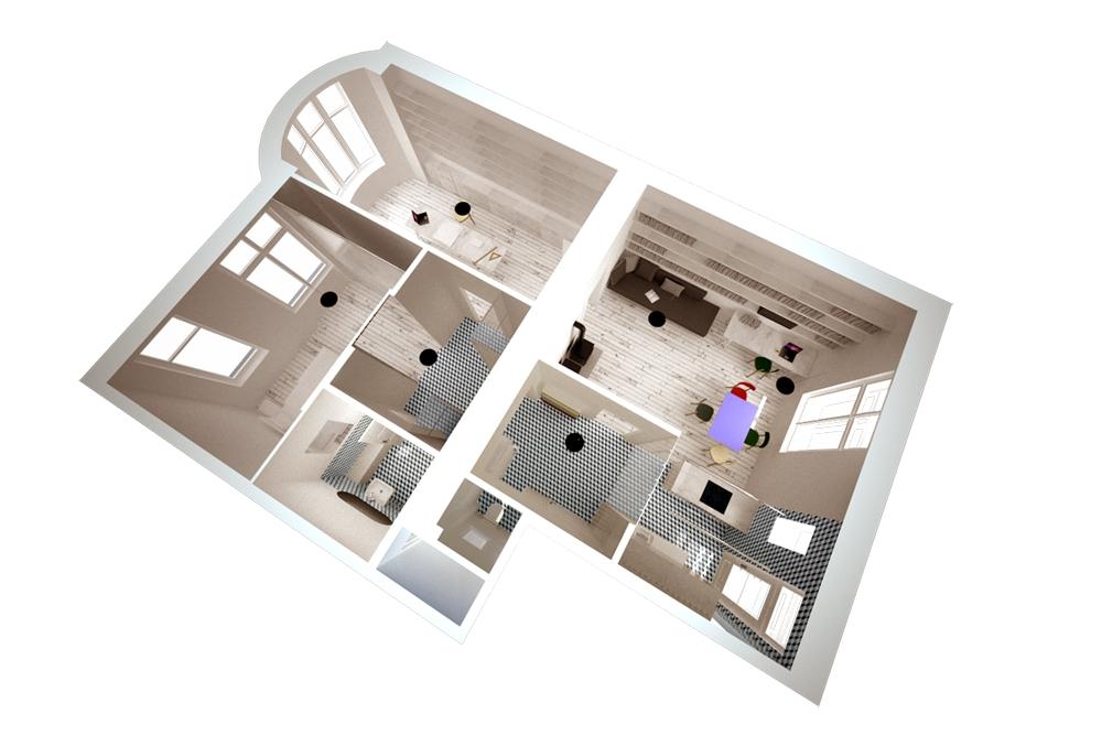 0, 5 Studio: Prostor jako pozadí