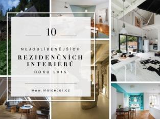 10 nejoblíbenějších rezidenčních interiérů roku 2015