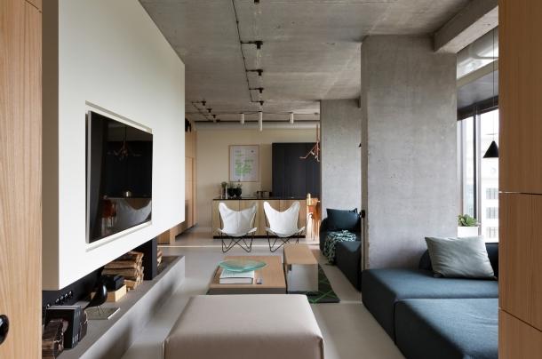 Rezidenční projekty - Maximální využití prostoru se v Kyjevě povedlo bez ztráty elegance