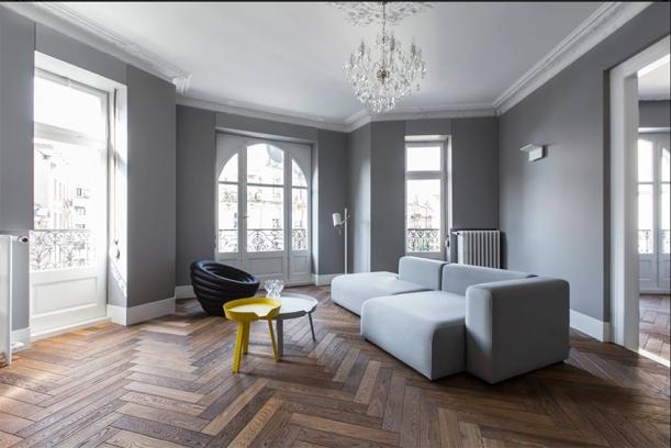 Interiér - Byt od studia YCL by mohl být vzorem francouzského luxusního bytu
