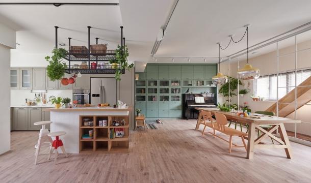 Rezidenční projekty - Rodinný byt od HAO Design podporuje dětskou kreativitu a hravost