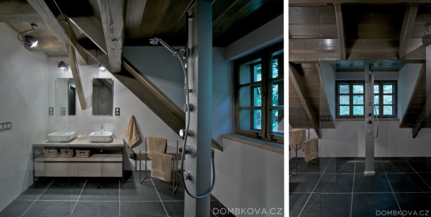 Interiér - Znovuzrozená roubenka v Orlických horách