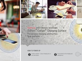 Corian Charging Surface: bezdrátové nabíjení pro více pohodlí a estetiky