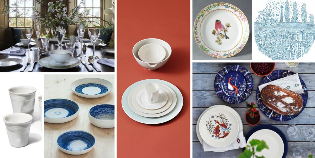Malovaný porcelán nebo čistou keramiku? Jídelna snese obojí