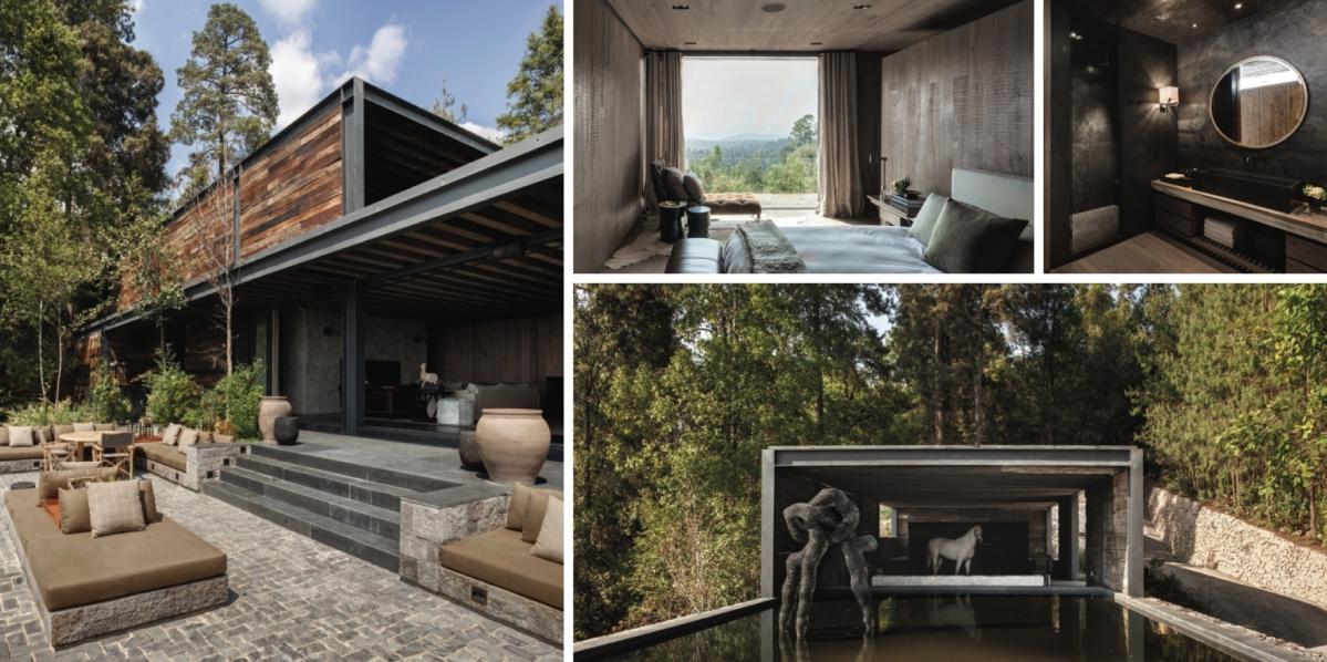 K eleganci rezidence El Mirador přispívá i použití železničních pražců