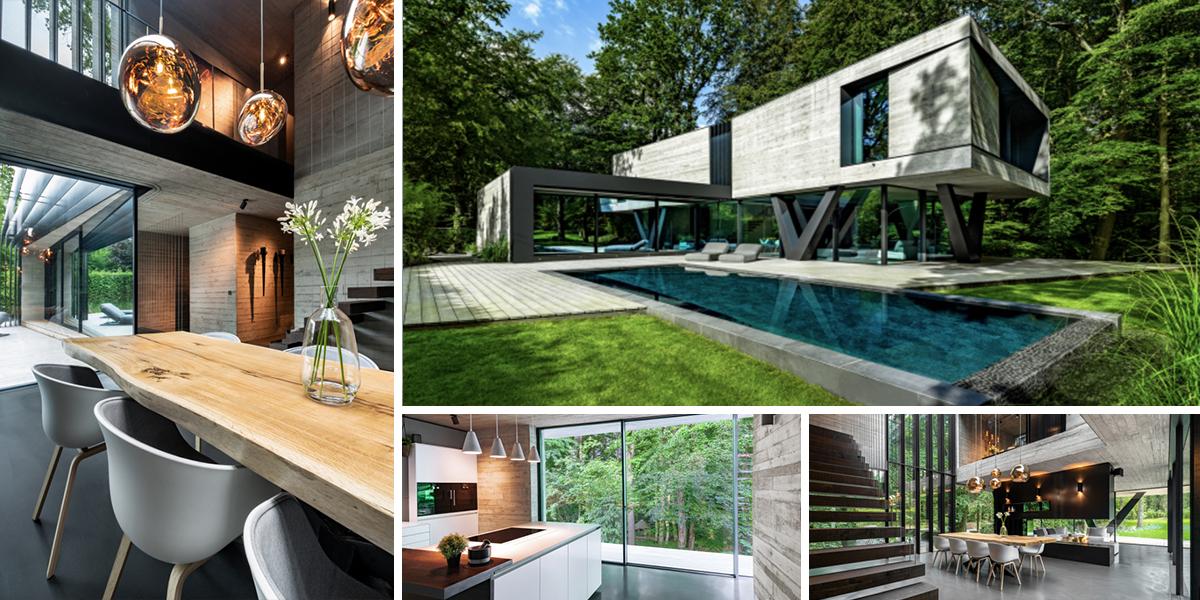 Moderní Villa Neo spojuje krásy lesa s moderním bydlením