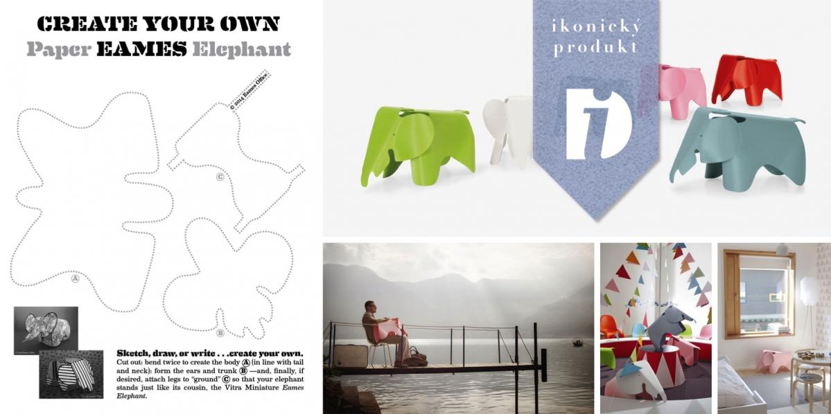 Eames Plywood Elephant: Slon, kterého budou vaši děti milovat