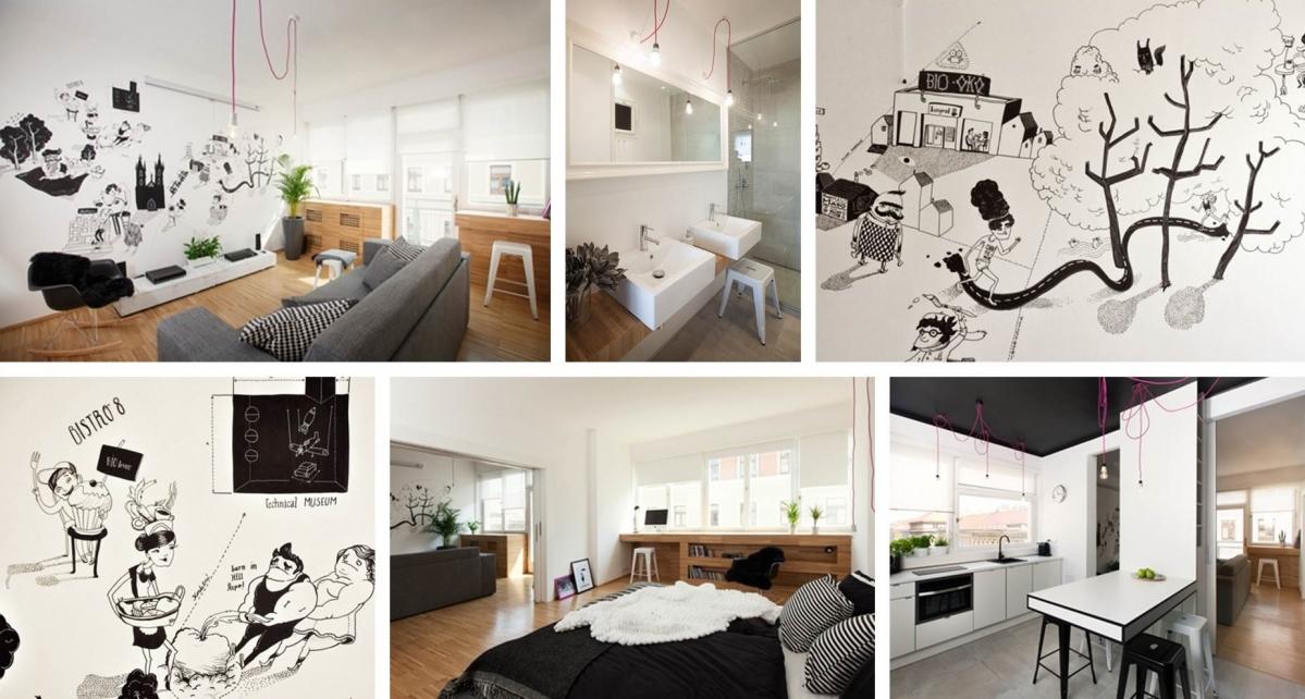 Ilustrovaný apartmán studia SMLXL