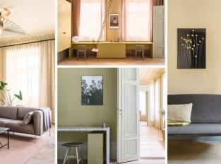 Interiér stockholmského domu z 19. století ovládly pastelové barvy