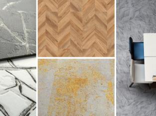 Podlaha jako zmačkaný papír či zrezivělý plech? Objevte nové podoby vinylů