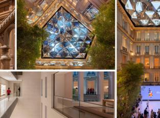 Obchodní dům Apple na Champs-Élysées zdobí kaleidoskopická střecha