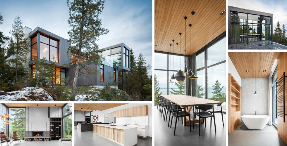 Rekreační dům v kanadských horách okouzlí milovníky přírody i designu