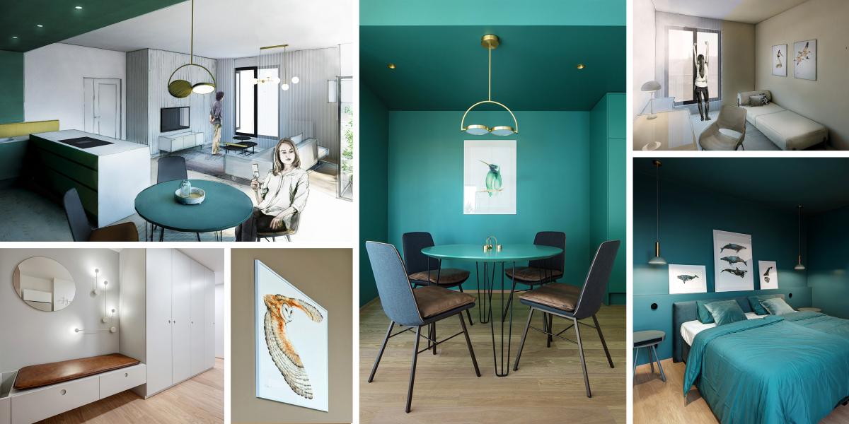 Ateliér Archicraft navrhl byt, kde barvy definují jednotlivé místnosti