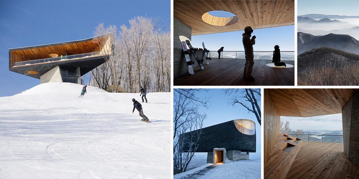 Stage of Forest: designová vyhlídka na vrcholku čínských hor