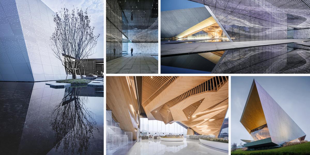 Čínská výstavní síň LongFor ukazuje architekturu budoucnosti