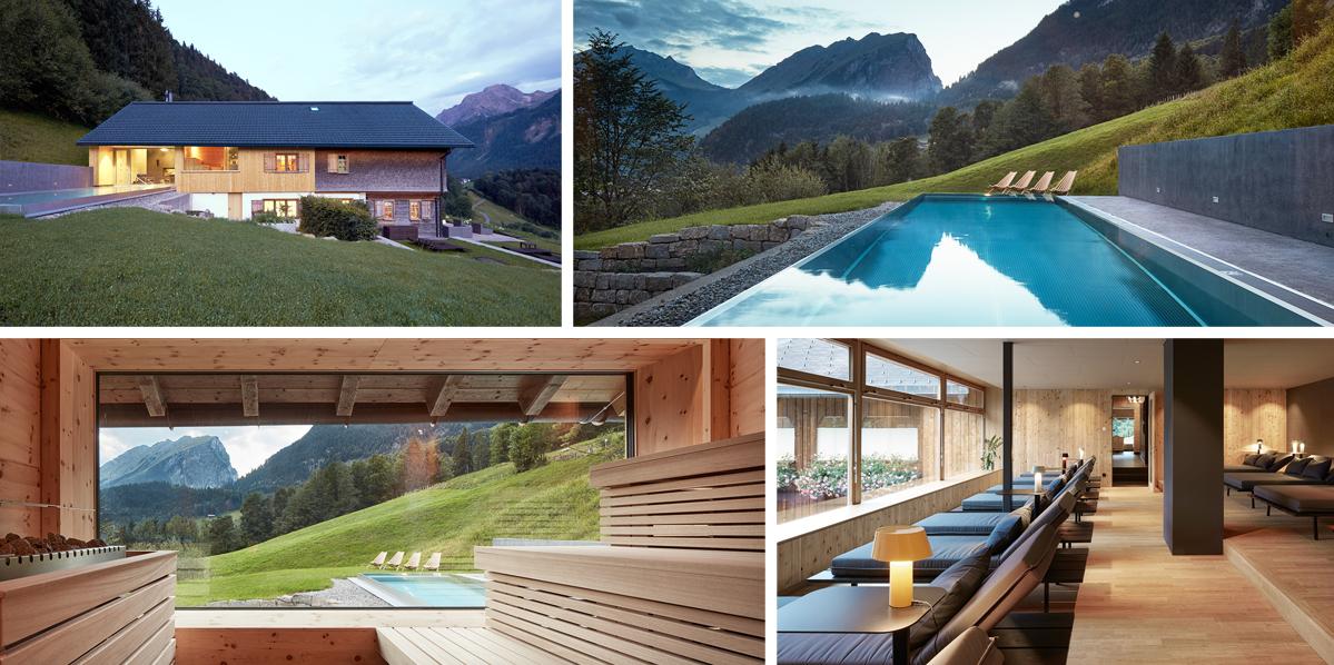 Staré lázně se proměnily v moderní wellness s výhledem na vrcholky Alp