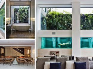 Brazilský dům odkrývá uměleckou sbírku i bazén v obýváku
