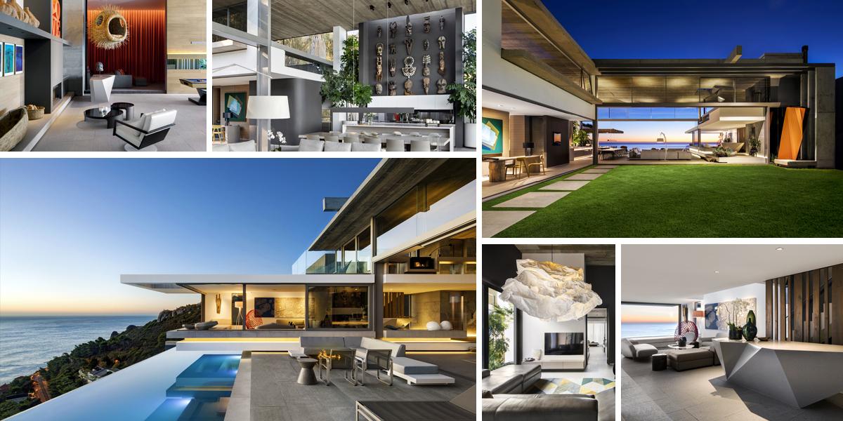 Moderní domov protkaný skvostnými výhledy i jihoafrickým uměním