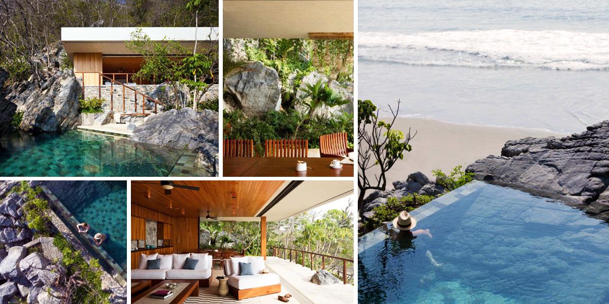 Idylický domov i s bazénem vytesali architekti rovnou do skály