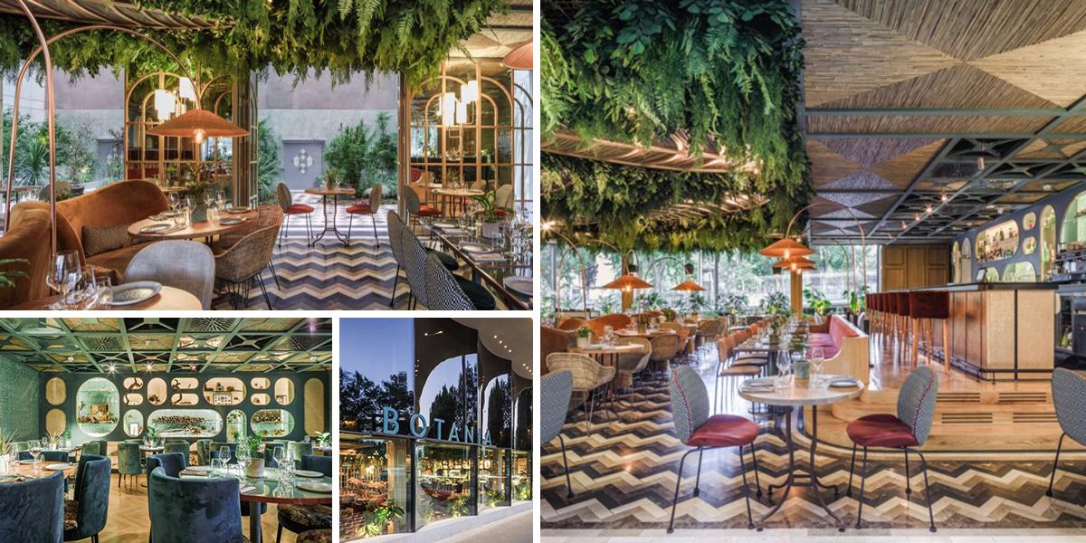 Restaurace Botania v Madridu láká na interiér plný přírody