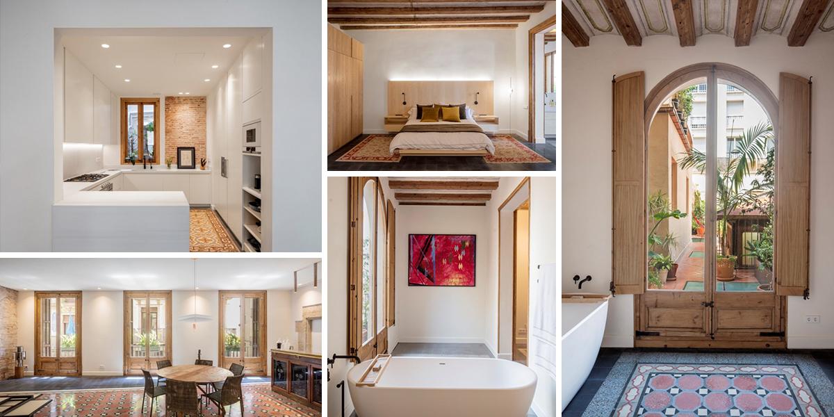 Zrekonstruovaný byt Carme zdobí minulost, současnost i tři velké terasy