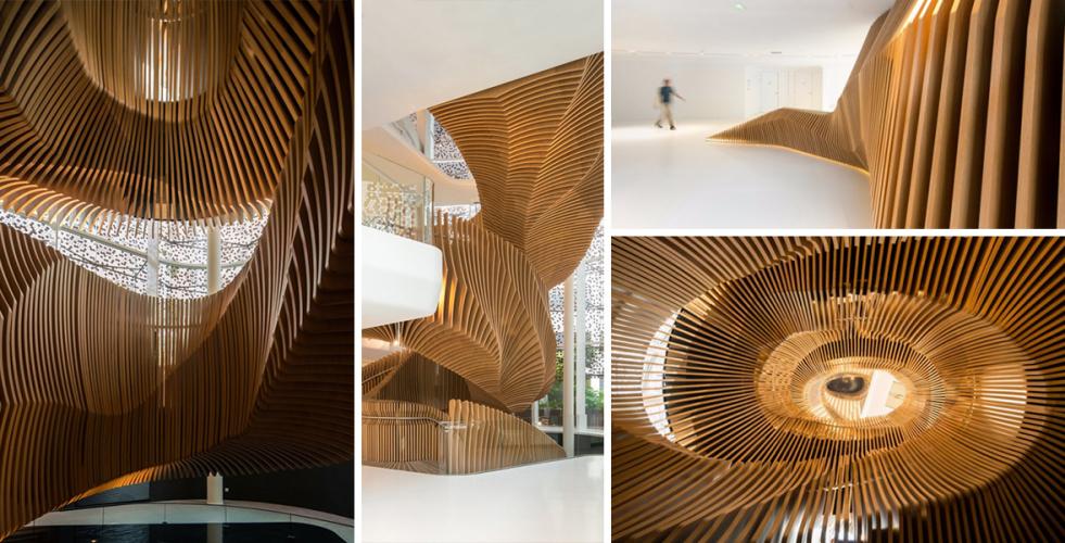 Když schodiště předčí architekturu: Kanceláře LVMH's Media Division
