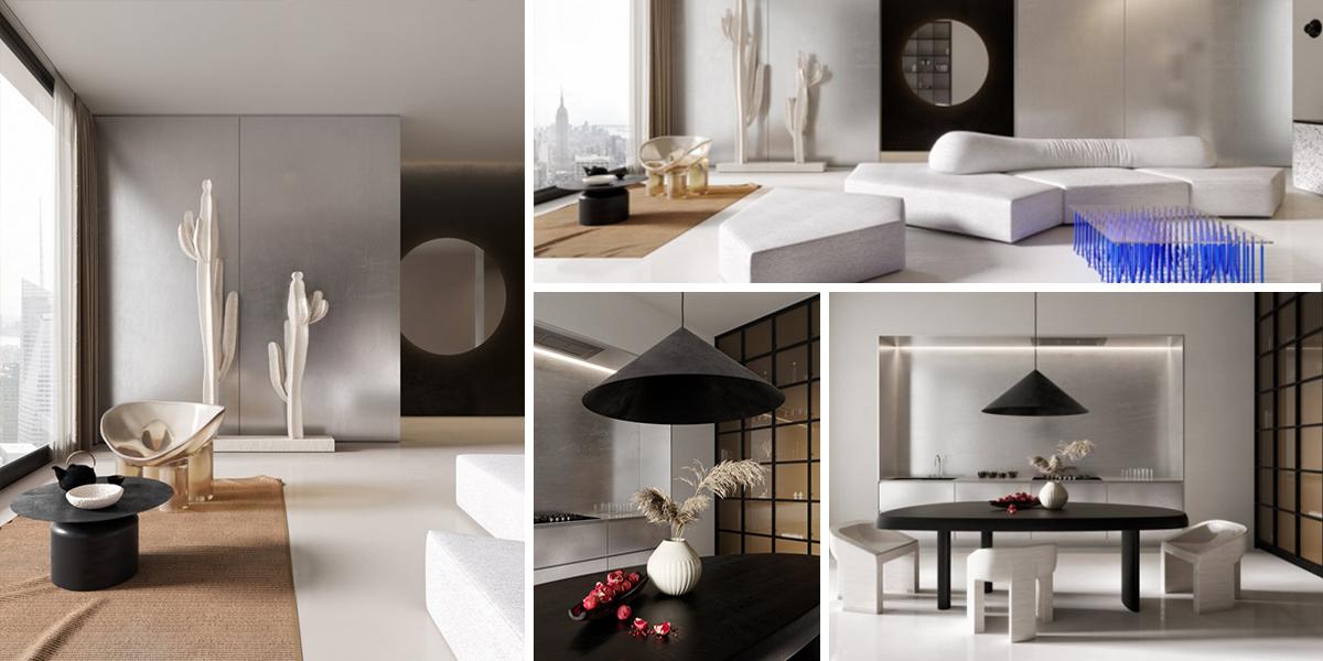 Futuristický byt ve znamení digitálního detoxu