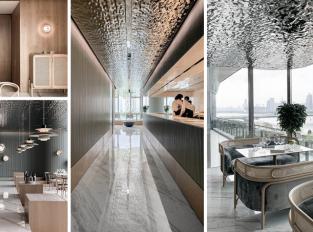 Restaurace s iluzí vodní hladiny na stropě
