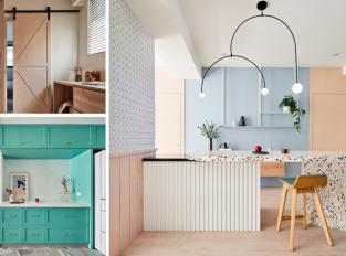 Barvy duhy, minimalismus a geometrie. Takhle se žije v bytě Ne_On