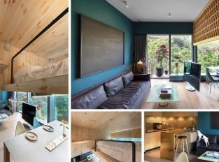 Malý stromový dům v Hong Kongu má ložnici téměř ve hvězdách