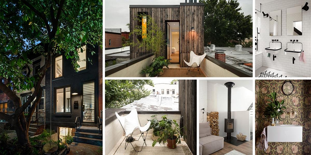 Řadový dům v Brooklynu - designové bydlení se střešní ložnicí