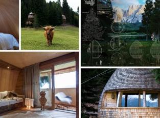 Stromový dům v italských Alpách - resort, který má blízko k přírodě