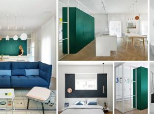 Když barevné akcenty dodají šmrnc: poznejte byt v Tel Avivu