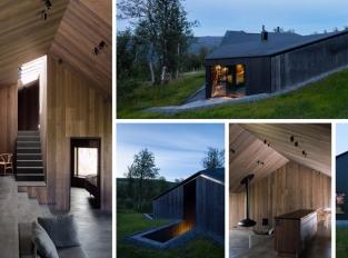 Norské hory skrývají netradiční chatu, která okouzlí zvenku i zevnitř