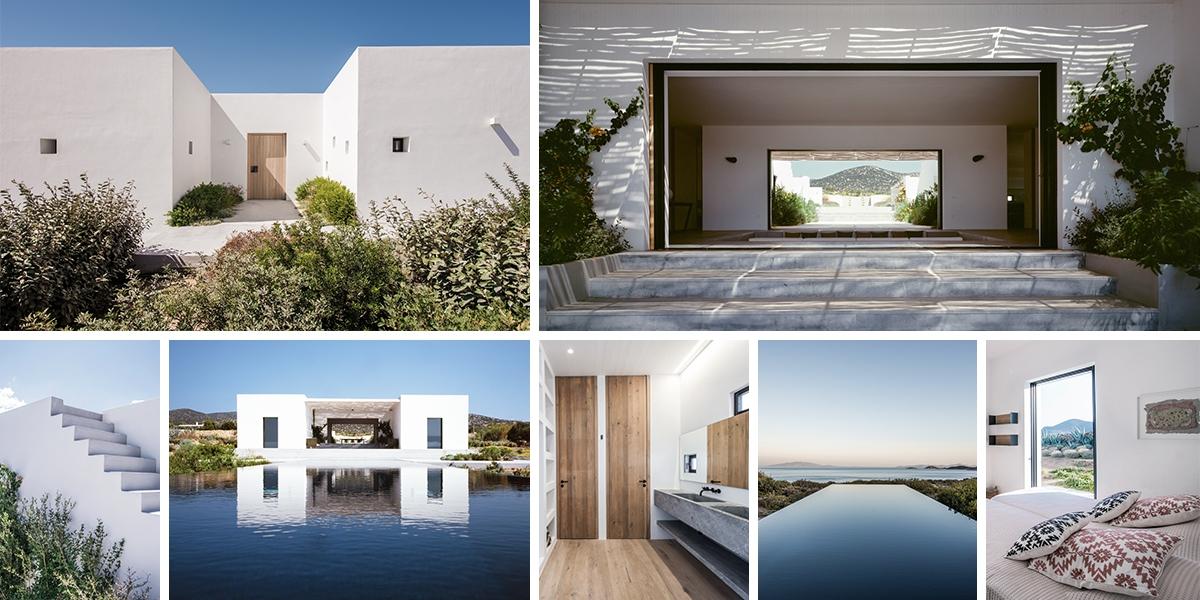 Letní sídlo Horizon na řeckém ostrově Paros má kouzelné výhledy
