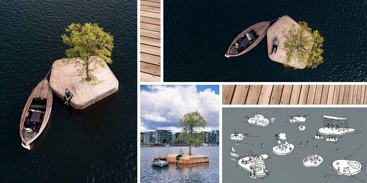 V Kodani vznikl plovoucí dřevěný ostrov pro odpočinek i kulturní akce