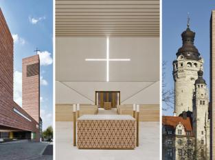 Kostel sv. Trojice v Lipsku čerpá z krásy místního kamene