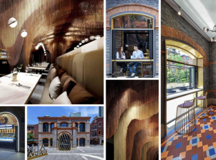 Restaurace Icha Chateau v Šanghaji vyzařuje krásu čajových plantáží