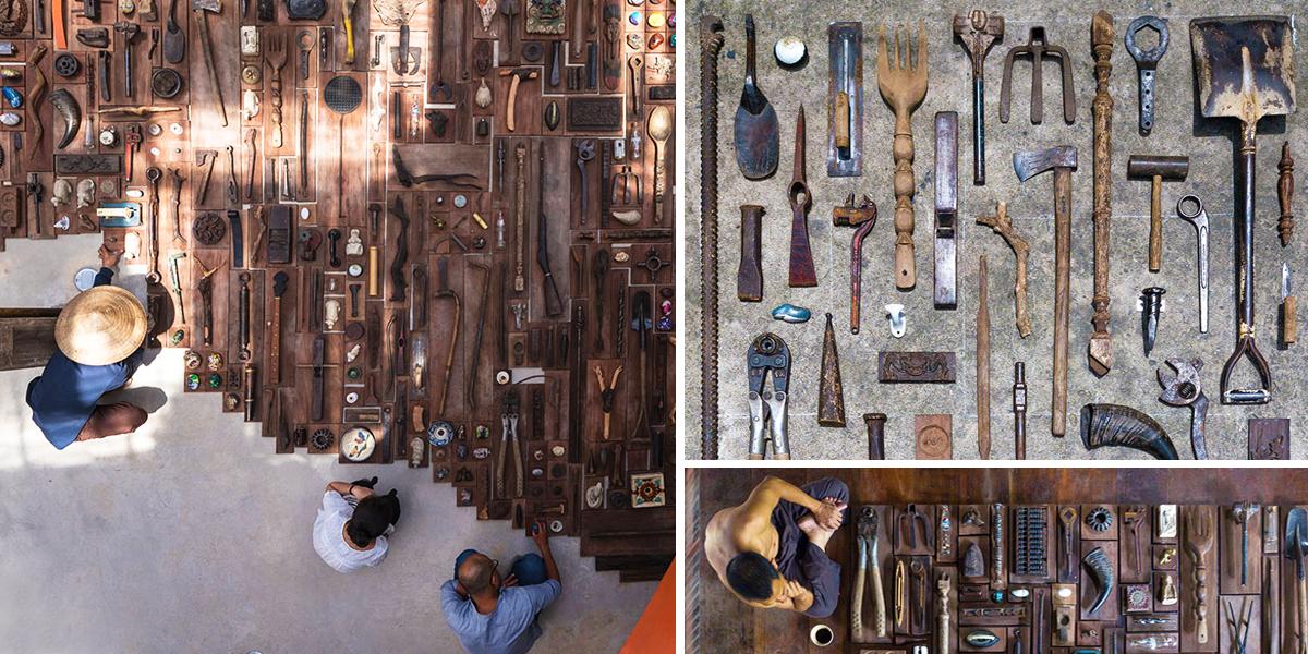 Ateliér a21studio vytvořil z odpadu originální dveřní madla