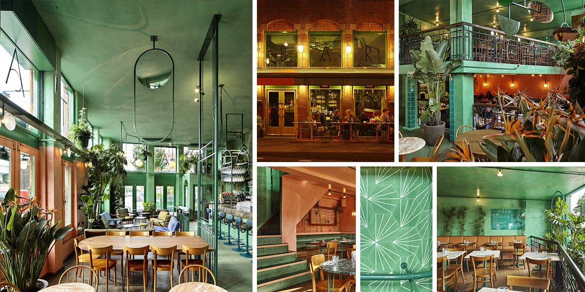 Bar Botanique Cafe Tropique: to je holandský bar inspirovaný džunglí
