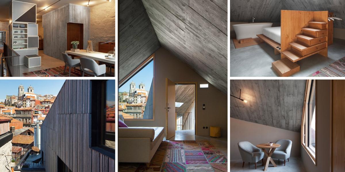 Portugalský hotel Armazém čerpá z industriální krásy bývalého skladu