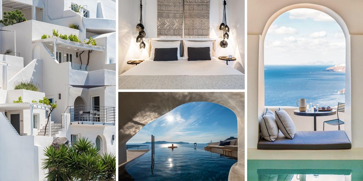 Řecký ostrov Santorini nabízí ubytování, které je jako nebe na zemi