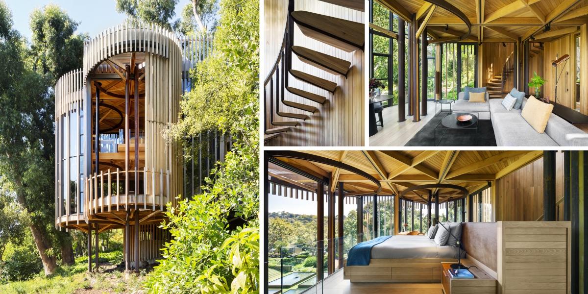 V lesích Kapského města se skrývá stromový dům s okouzlujícími výhledy