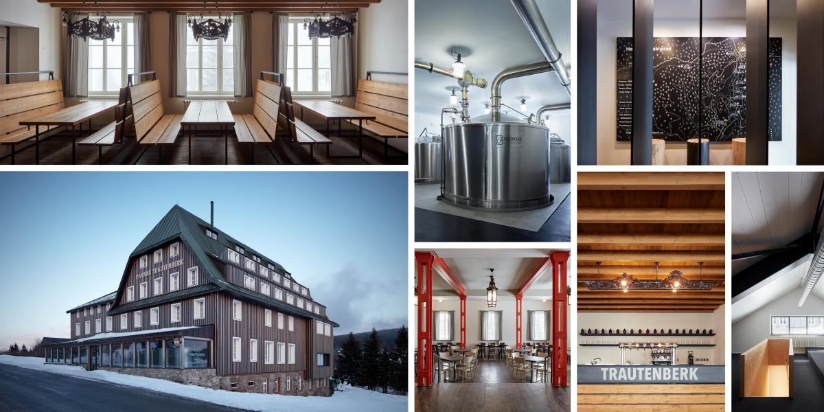 Tady je Trautenberkovo. Ateliér ADR navrhl horský pivovar s ubytováním