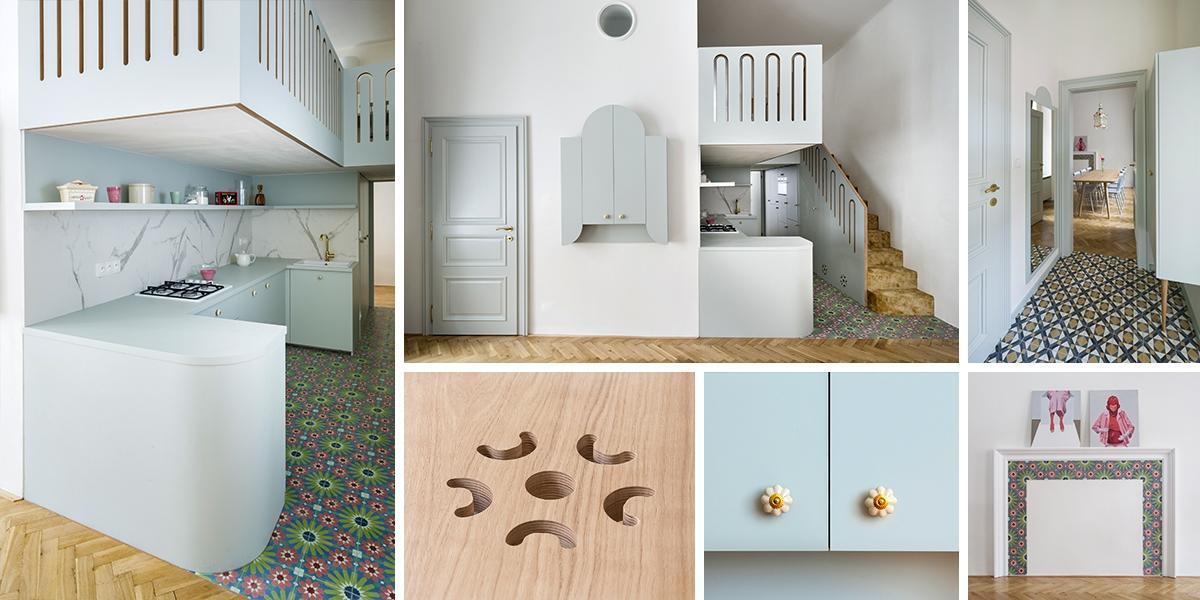 Kouzelná rekonstrukce pavlačového bytu od No Architects