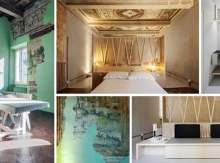 Malý byt v centru italské Mantovy propojuje dva odlišné světy