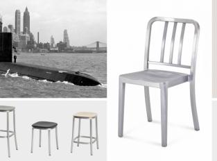 Hliníkové židle Emeco: Z bitevních lodí do světových interiérů