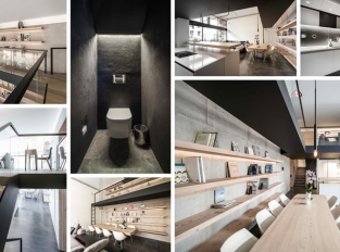 Libanonský byt zdobí betonová zeď a ocelová konstrukce