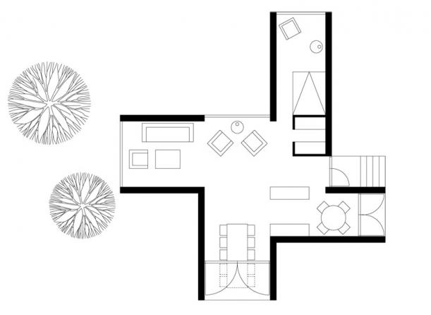 Interiér - Vila čtyř světových stran