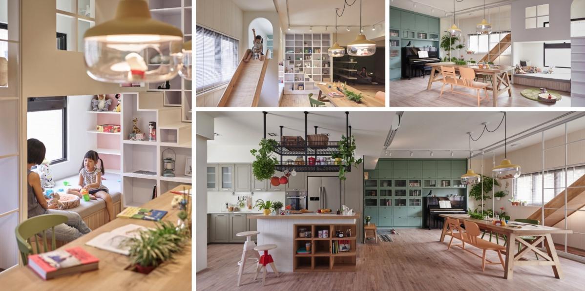 Rodinný byt od HAO Design podporuje dětskou kreativitu a hravost